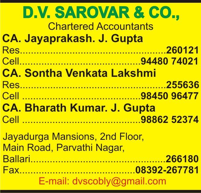 D.V. Sarovar & Co.,