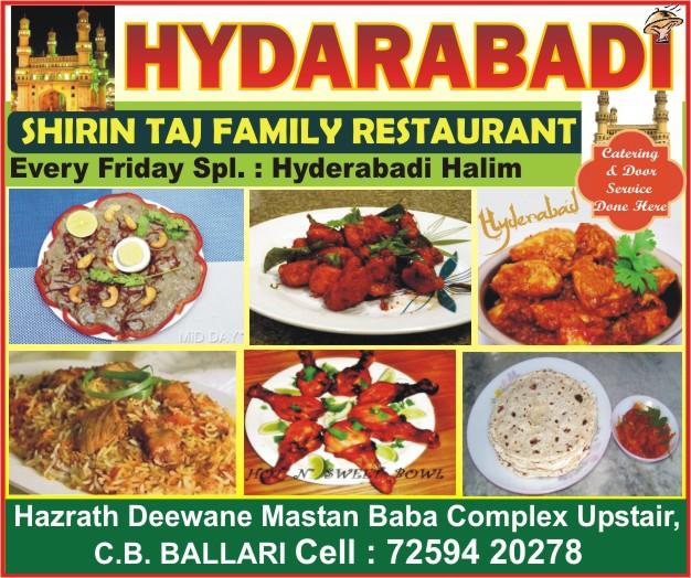 SHIRIN TAJ FAMILY RESTAURANT HYDARABADI