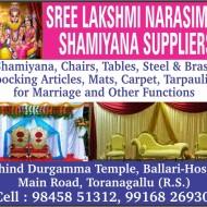 Sree Laksmi Narasimha Shamiyana Suppliers