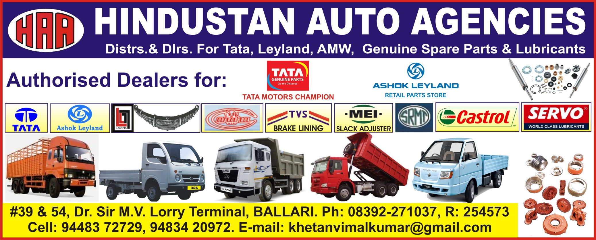 Automobile Spare Parts Suppliers In Bellary