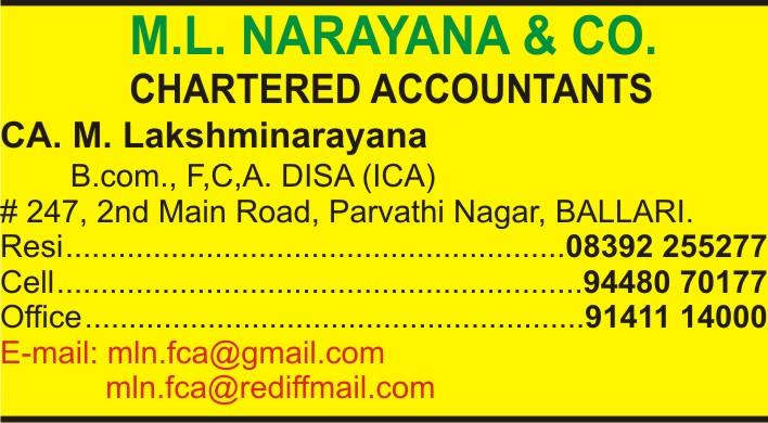 M.L. Narayana & Co.