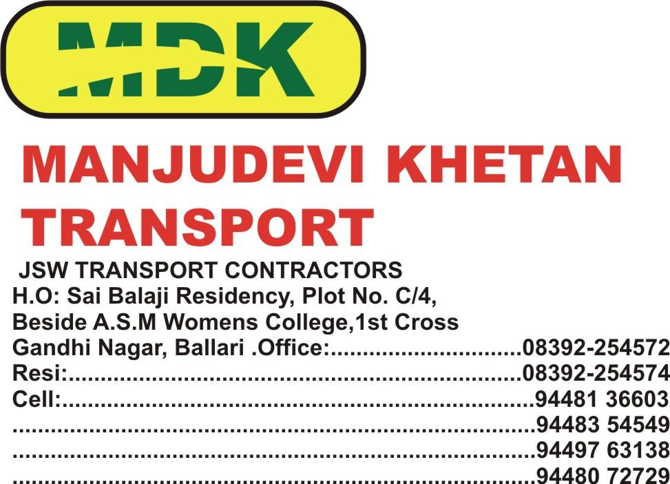 Manjudevi Khetan Transport