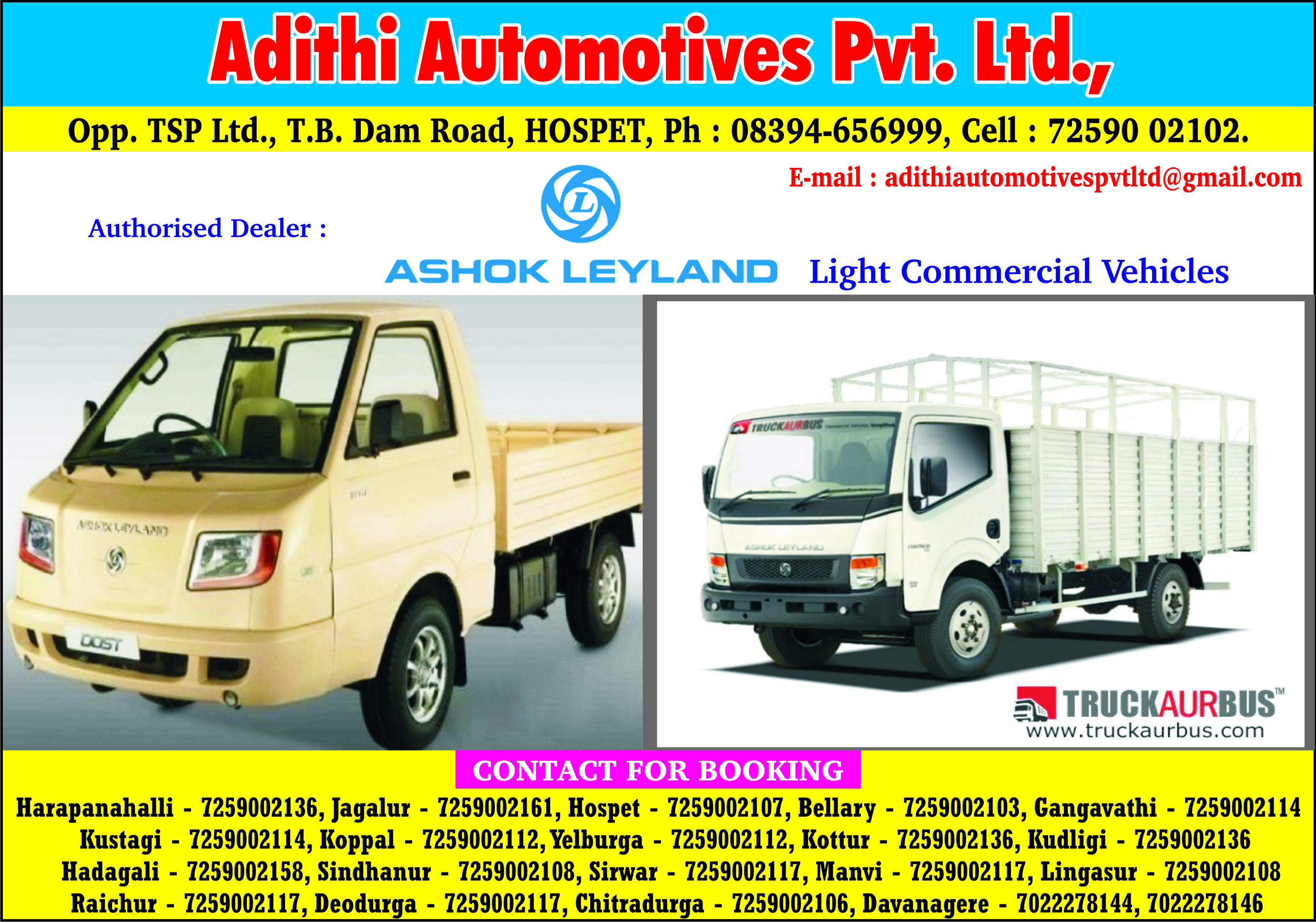 Adithi automotives pvt ltd the telit yelow pages authorised dealer ashok leyland light commercial vehicles mozeypictures Image collections