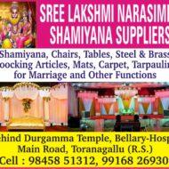 Sree Lakshmi Narasimha Shamiyana Suppliers