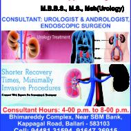 Doctors Urologist In Bellary