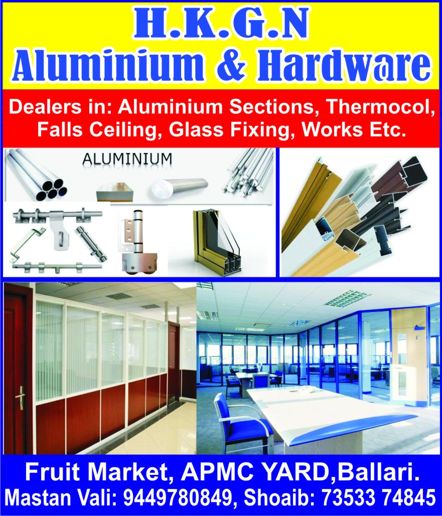 Alluminium fabrication Works In Bellary