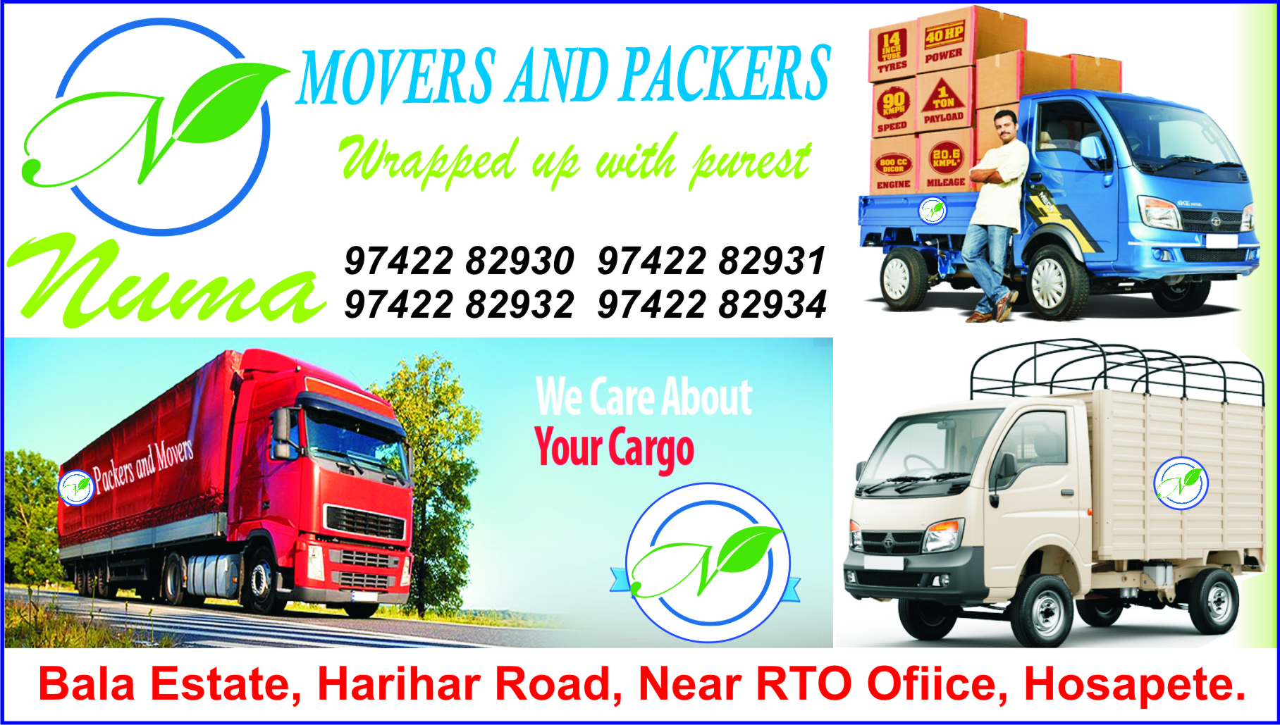 NUMA MOVERS AND PACKERS