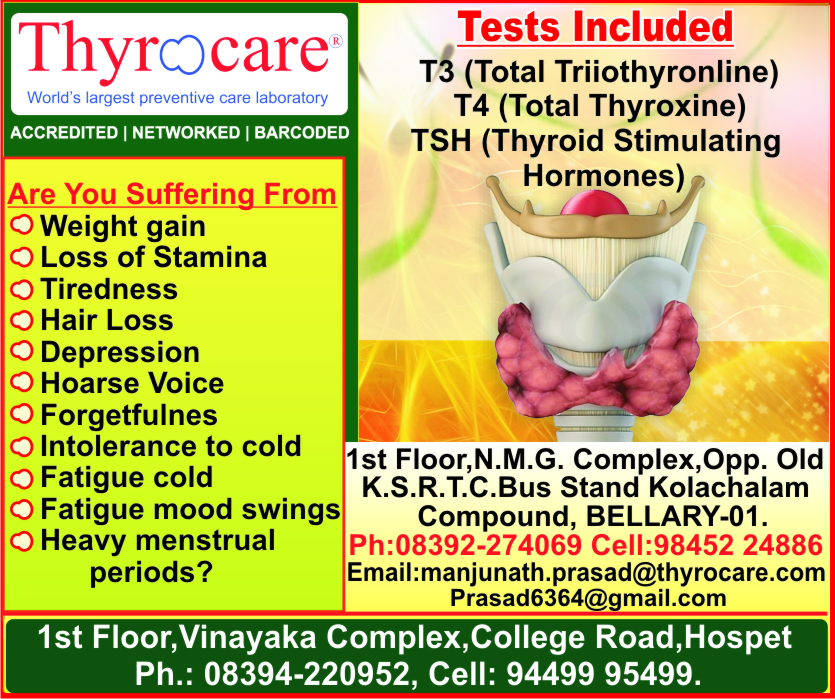Thyrocare In Bellary