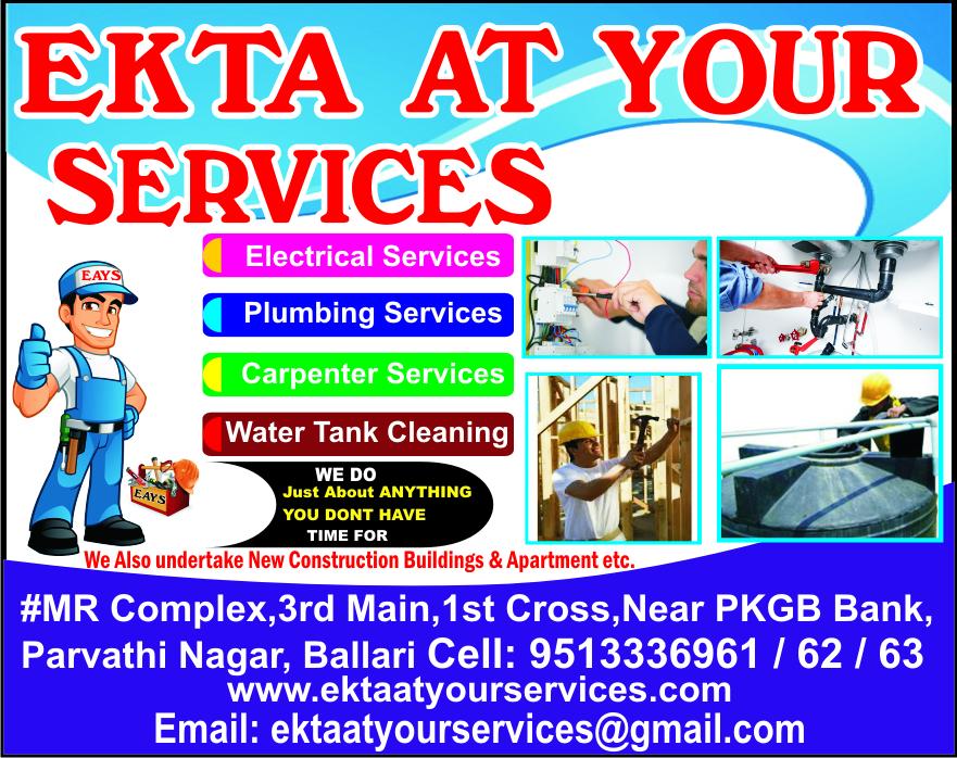 EKTA AT YOUR SERVICES