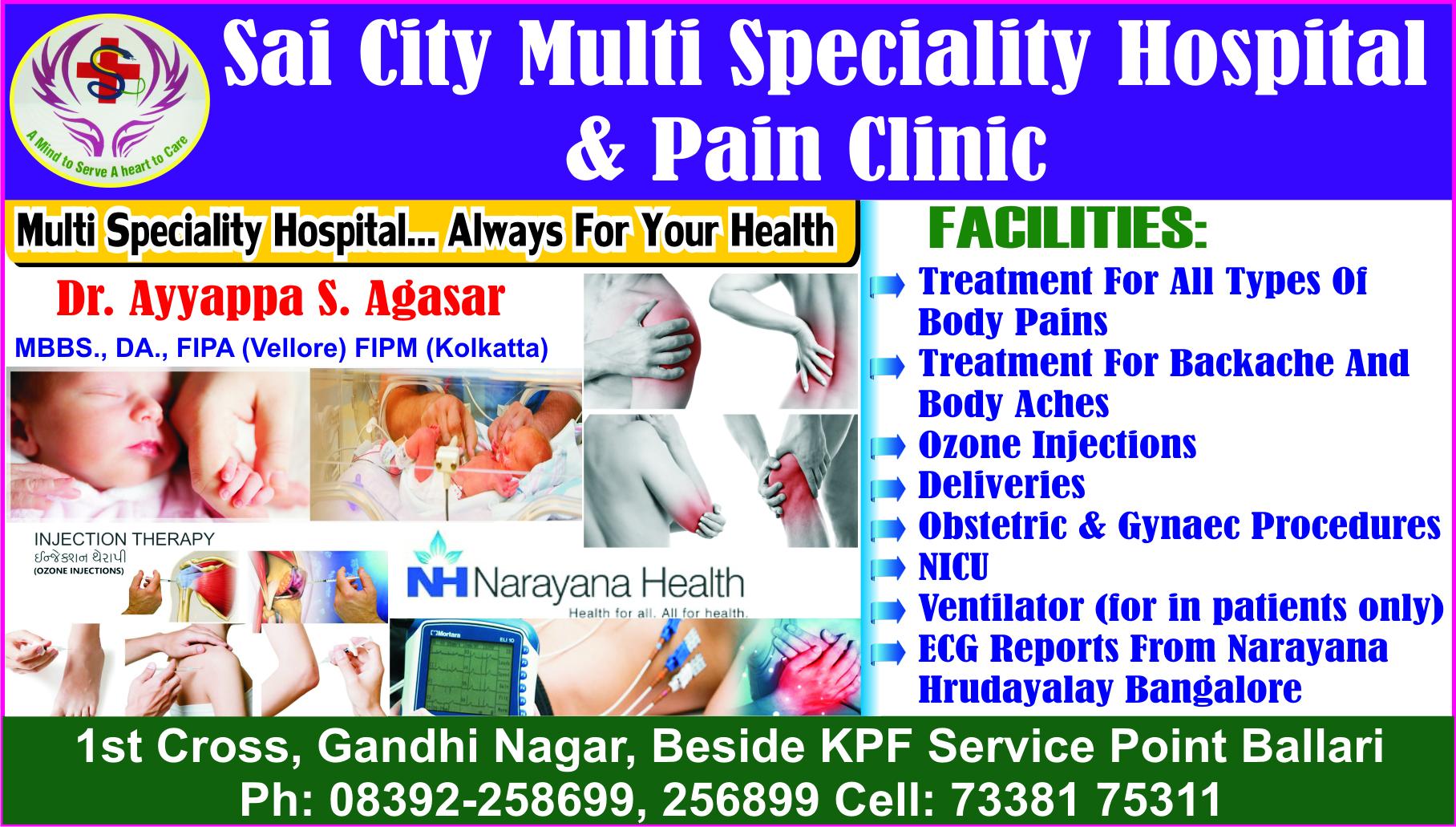Sai City Multi Speciality Hospital & Pain Clinic