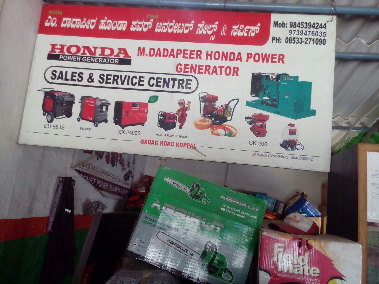 M. DADAPEER HONDA POWER GENERATOR SALES & SERVICE