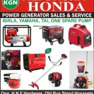ALI BASHA HONDA POWER GENERATOR SALES & SERVICE