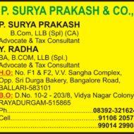 P. Surya Prakash & Co.,