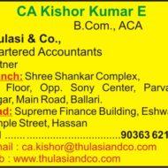 CA Kishorer Kumar E